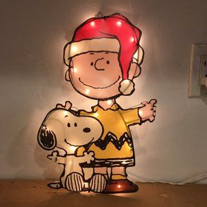 Peanuts Lighted Christmas Charlie Brown & Snoopy